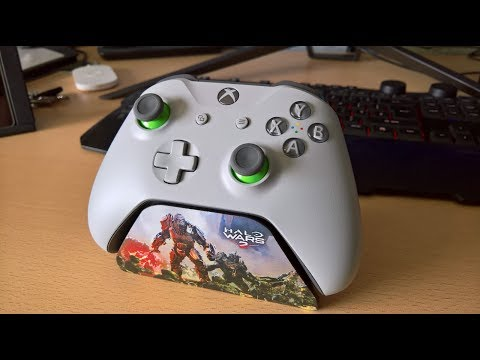 Grey/Green Xbox One S Controller Unboxing