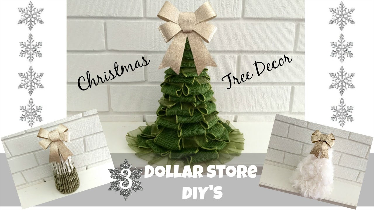 3 Dollar Store DIY Christmas Tree Decorations! Holiday Beauty On A Budget!    YouTube