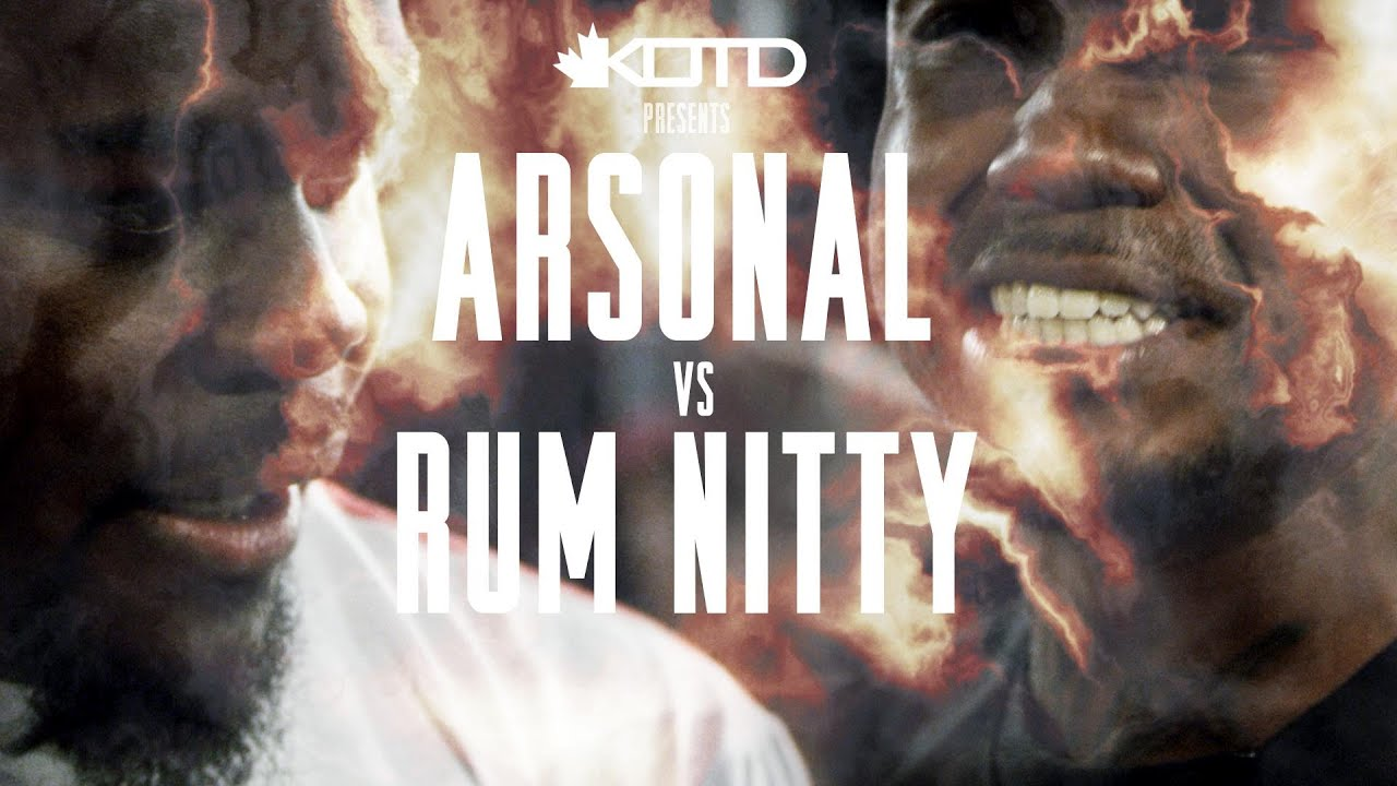 KOTD - Rap Battle - Arsonal vs Rum Nitty - Vloggest