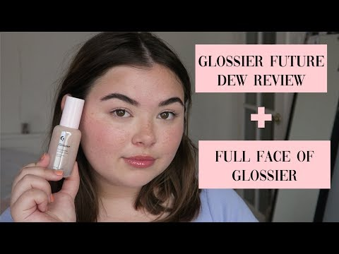 Trying FutureDew+Full Face of Glossier thumbnail