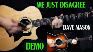 """how to play """"We Just Disagree"""" on guitar by Dave Mason   guitar lesson tutorial DEMO"""