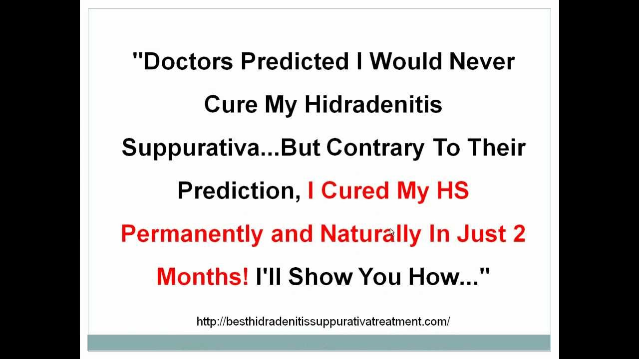 How To Cure Hidradenitis Suppurativa Naturally