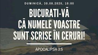 Sfanta Treime Braila - 30 August 2020 - Apocalipsa 3:5