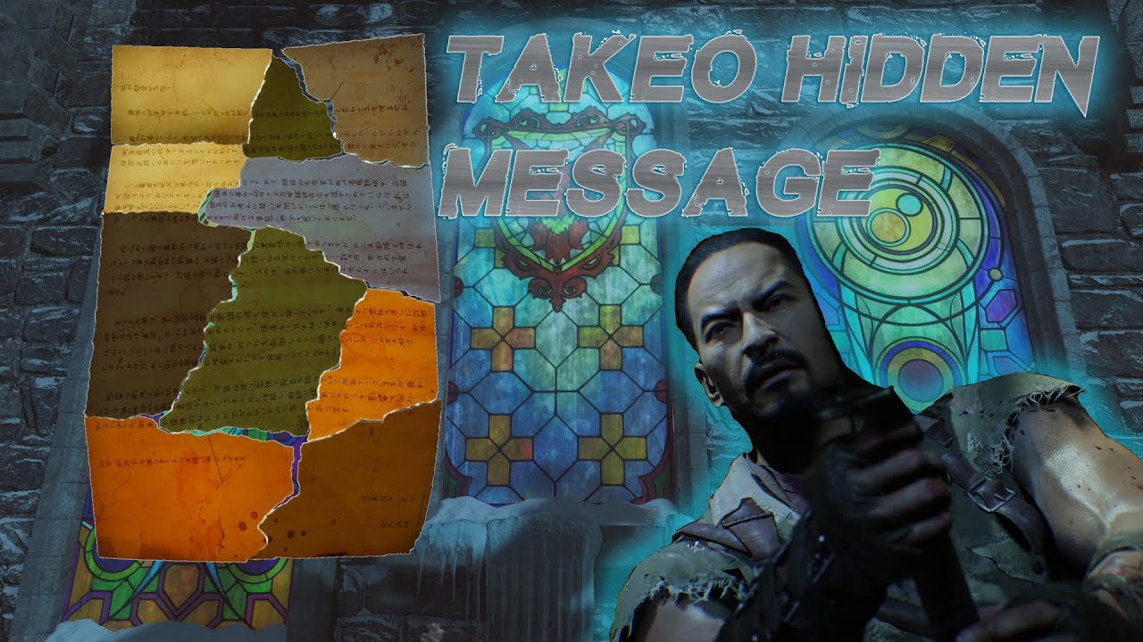 Der Eisendrache Takeo\'s Hidden Letter / Secret Massage To The ...