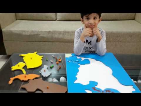 Moksh's World Geography Activity_34: Identifying Countries Of North America & Montessori Puzzle Map
