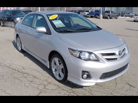 2013 Toyota Corolla S Silver | Great Gas Mileage | Reliable Used Cars |  P10197