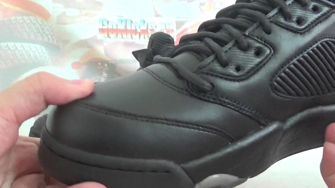 "e2e24f1f9fbe Air Jordan 5 Premium ""Triple Black"" 881432 010 from goskicks cn ..."