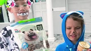 Макс и Катя устроили салон для животных
