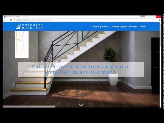 Calculer Un Escalier Quart Tournant Exemple N 1