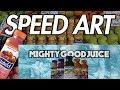 Naked Juice Sticker Speed Art : Video Created By CarterTv