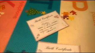 How to make a birth certificates for it dolls