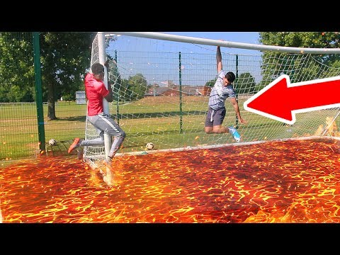 1000+ DEGREE FLOOR IS LAVA FOOTBALL CHALLENGE **IMPOSSIBLE TO DO**