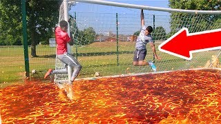 1000+ DEGREE FLOOR IS LAVA FOOTBALL CHALLENGE **IMPOSSIBLE TO DO** thumbnail