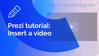 Prezi tutorial: How to insert a video