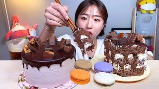 쇼콜라봉봉 초코케이크 마카롱 디저트 먹방 Dessert…
