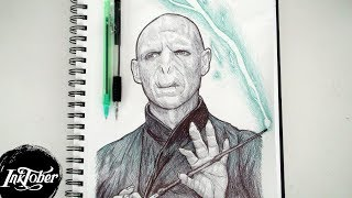 LORD VOLDEMORT PEN DRAWING - INKTOBER DAY 23