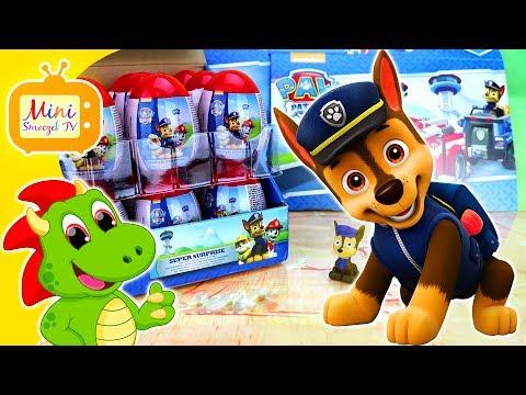 Psi Patrol Marshall Rubble Chase Jajka Niespodzianki! DUŻO JAJEK! Filmik Dla Dzieci Po Polsku