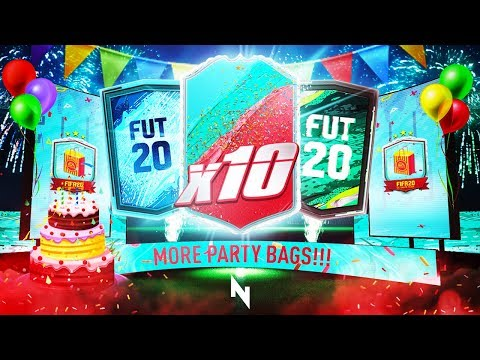 10 x FUT BIRTHDAY PARTY BAG PACKS! - FIFA 20 Ultimate Team