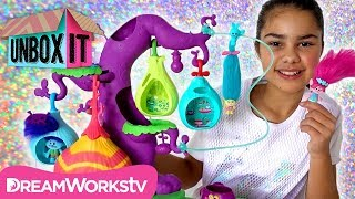 Trolls Hair Raising Collectables and Tree Play Set | DreamWorks' Trolls Presents UNBOX IT