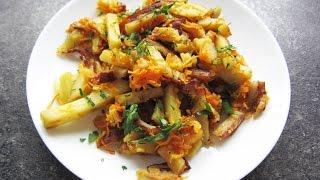 Жареный картофель с морковью