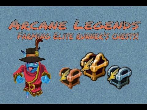 FARMING ELITE RUNNER'S CHESTS! | Arcane Legends