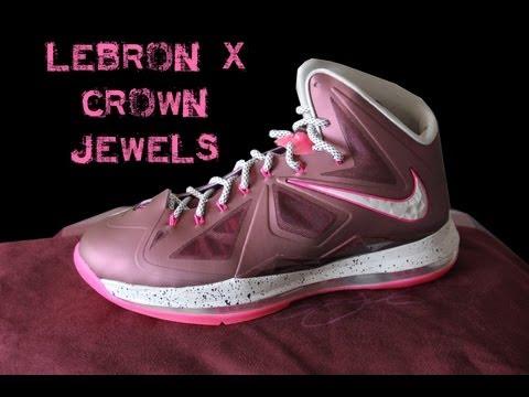 Nike LeBron X (10) BordeauxWolf Grey Fireberry Metallic