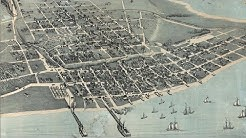 Corpus Christi Texas History and Map (1887)