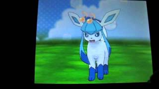 Shiny Eevee evolves into Leafeon, Glaceon and Sylveon!!! in Pokemon X