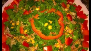 Салат Екатерина. Салат с кукурузой. Екатерина салат.Салат Екатерина рецепт. Салат с грибами.