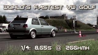 VW Golf MK2 AWD 900HP 8,65s @ 266kmh World Record 16Vampir