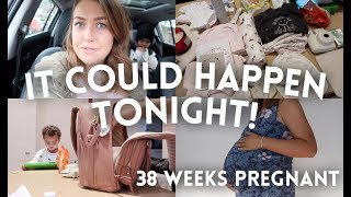 PACKING MY HOSPITAL BAGS | 38 WEEKS PREGNANT