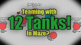 Teaming with 12 tanks?! | Epic Diep.io Maze map | Protect the Nest | Light Thief YT