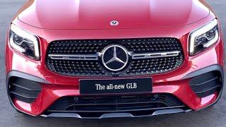 سيارة جديده بالكامله من مرسيدس GLB 2021 ومقارنه سريعه مع اصغر وأكبر سياره بمرسيدس