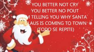 Santa claus is coming to town ingles español