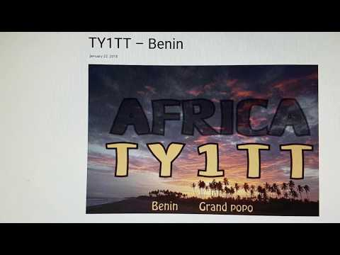 TY1TT, Benin AFRICA, 7MHz, CW, Worked by HL2WA