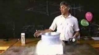 Опыты с жидким азотом (профессор Синицких)