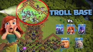 TROLL BASE HDV10 VS FULL TROUPES !