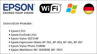 Wie Set-up Epson-Drucker zu Wi-Fi 2013 verwenden (Win DE)