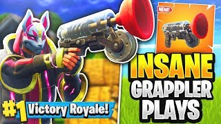 INSANE GRAPPLER PLAYS! Solo Full Gameplay (Fortnite Battle Royale)