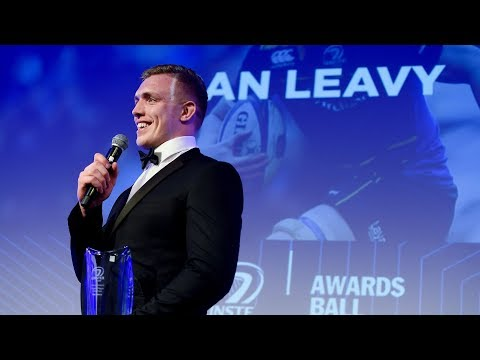 Dan Leavy wins Bank of Ireland Players' Player of the Year - 2018 Leinster Rugby Awards Ball