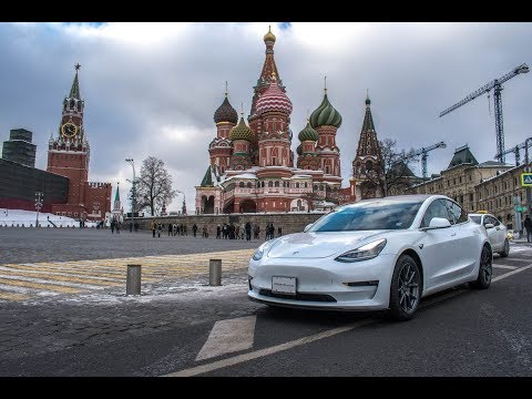The first Tesla Model 3 in Russia - Do Russians know about EVs?