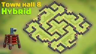 Clash of clans - Town hall 8 (TH8) Hybrid base 2015 [The slit] with Air sweeper