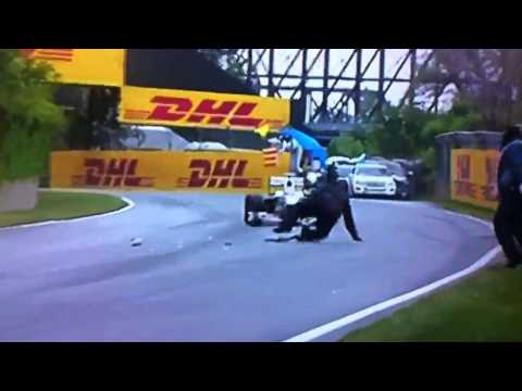 Steward falls over at 2011 Canadian Grand Prix