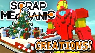 Scrap Mechanic CREATIONS! - GIANT IRON MAN!! [#23] W/AshDubh | Gameplay |