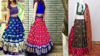 cdce23f234b9ec Latest Pochampally Ikkat Silk Lehengas Online Shopping With Price