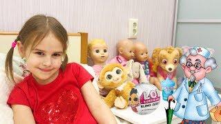 Алина заболела простудой Смотрит Мультики и открываем  НЕОБЫЧНУЮ куклу ЛОЛ