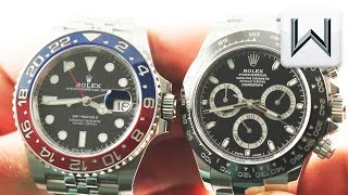 Rolex GMT Master II Pepsi vs Rolex Daytona (126710BLRO vs 116500LN) Luxury Watch Review