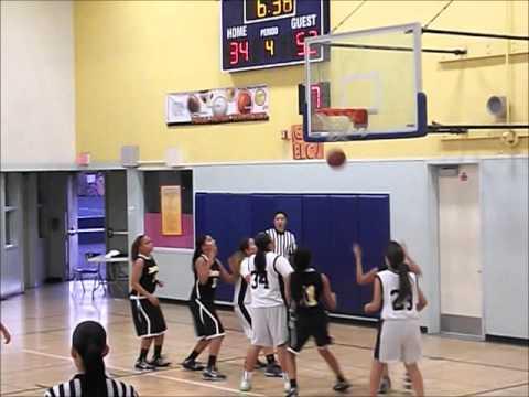 San Pedro High Girls Basketball vs. Elizabeth Learning Center (12-10-2012)
