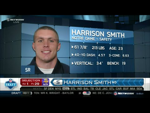 2012 NFL Draft Rd 1 Pk 29 | Minnesota Vikings Select S Harrison Smith