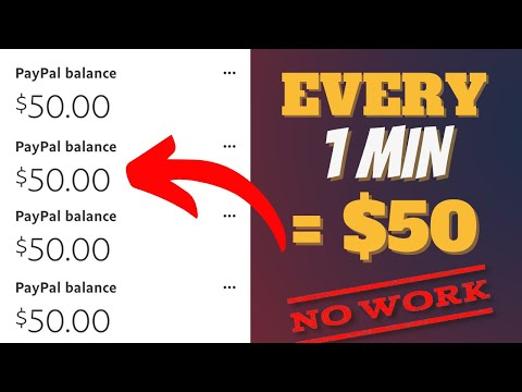 Get Paid $50 Every Minute With No Work (Earn PayPal Money For Beginners 2021)